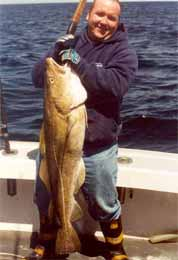 fisherman and cod fish catch