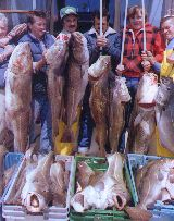 Deep sea fishing catch