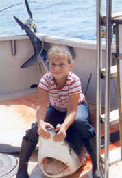 child with shark