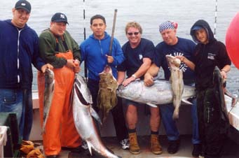fishing group with catch